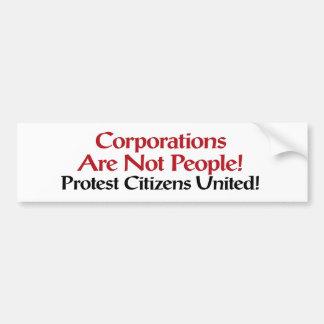 Protest-Bürger vereinigten Autoaufkleber