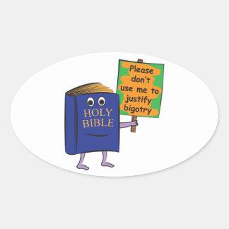 Protest der Bibel Ovaler Aufkleber