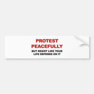 Protest friedlich aber widerstehen autoaufkleber