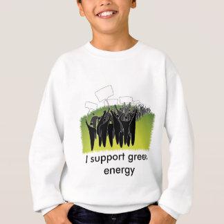 Protest mit Zeichen - grüne Umwelt Sweatshirt