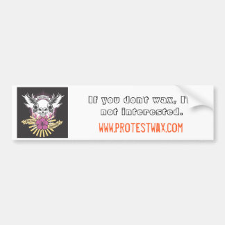 Protest-Wachsaufkleber Auto Sticker
