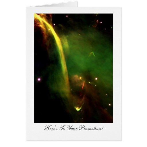 Protostar Herbig-Haro 34 - Glückwunsch auf Karte