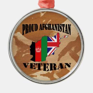 Proud Afghanistan Veteran  ......British Soldier Silbernes Ornament