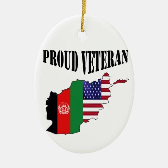 Proud Afghanistan Veteran Keramik Ornament