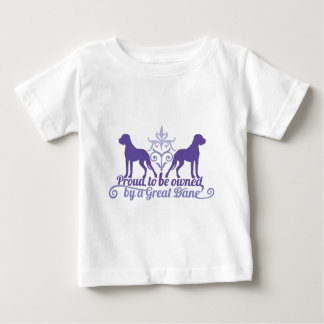Proud owned by a Great Dane purple Baby T-shirt