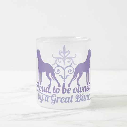 Proud owned by a Great Dane purple Mattglastasse