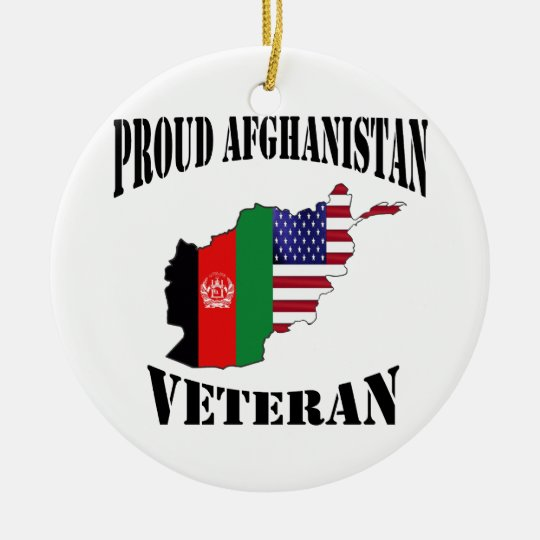 Proud US Afghanistan Veteran Rundes Keramik Ornament