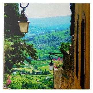 Provence-Ansicht von Gordes Fliese