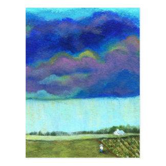 Providenceabstrakte Volkskunst-Landschaftsmalerei Postkarte