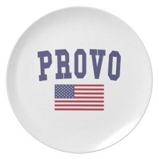 Provo US Flagge Flacher Teller