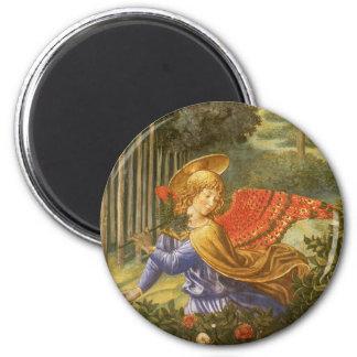 Prozession der Weisen, Renaissance-Engels-Kunst Runder Magnet 5,1 Cm