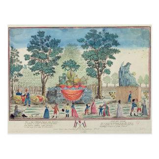 Prozession des Chariot der Landwirtschaft Postkarte