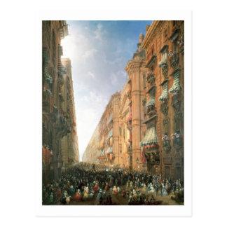 Prozession von Corpus Christi herein über Dora Postkarte