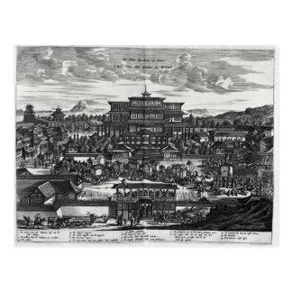 Prozession von Macao, eine Illustration Postkarte