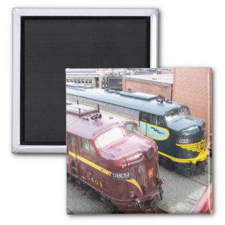 PRR E8A 5809 und ERIE E8A 833 @ Steamtown Quadratischer Magnet