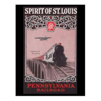 PRR Zug-Geist von St. Louis Postkarte