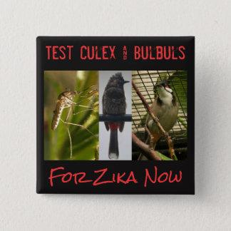 Prüfen Sie Culex u. Bulbuls-Knopf durch RoseWrites Quadratischer Button 5,1 Cm