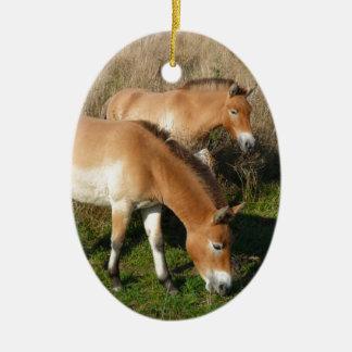 Przewalski Pferde Keramik Ornament