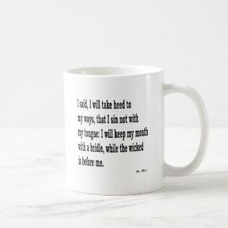 Ps. 39:1, w kaffeetasse