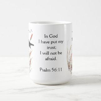 Ps-56:11 Bibel-Schrifts-Vertrauen in den Kaffeetasse