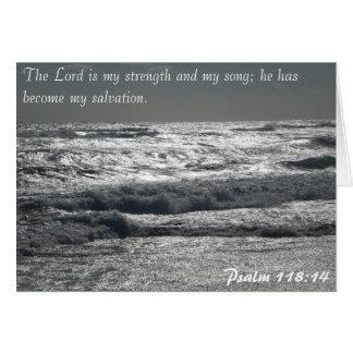 Psalm-118:14 - der Lord ist meine Stärke Karte
