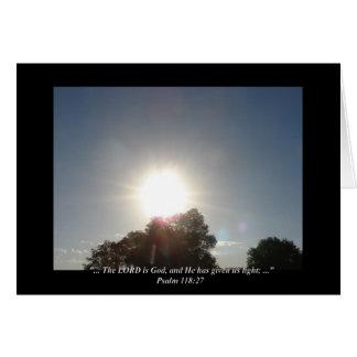 """Psalm-118:27"" durch Carter L. Shepard Karte"