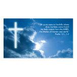 Psalm 121; 1-2 - Christliche Geschäfts-Karte Visitenkartenvorlagen