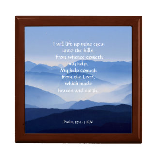 Psalm-121:1 - 2 mein Hilfencometh vom LORD Geschenkbox