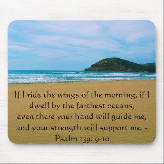 Psalm-139:9 - SCHÖNES BIBLISCHES ZITAT 10 Mousepad