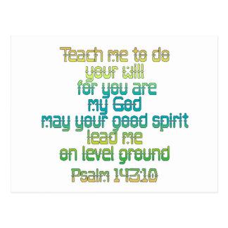 Psalm-143:10 Postkarte
