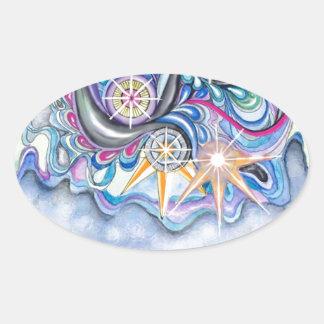 Psalm-147:4 nennt er die Sterne namentlich Ovaler Aufkleber