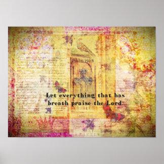 Psalm-150:6 Bibel-Vers zeitgenössisches christlich Poster