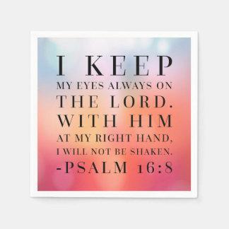 Psalm-16:8 Bibel-Zitat Papierservietten