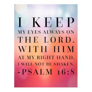 Psalm-16:8 Bibel-Zitat Postkarte