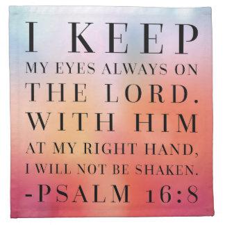 Psalm-16:8 Bibel-Zitat Serviette