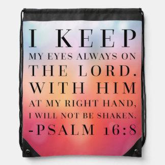 Psalm-16:8 Bibel-Zitat Turnbeutel