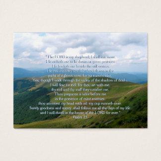 Psalm 23 - Christliche Geschäfts-Karte Visitenkarte