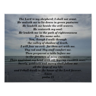PSALM 23 POSTER