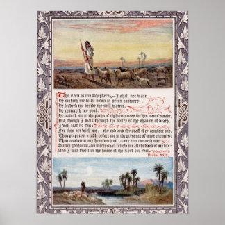 Psalm 23 Vintag Poster
