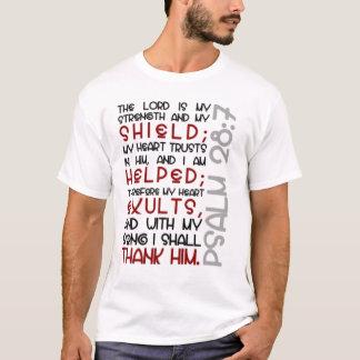 Psalm-28:7 T-Shirt