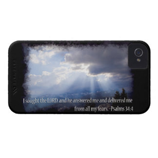 Psalm-34:4 auf Dunkelheit iPhone 4 Case-Mate Hülle