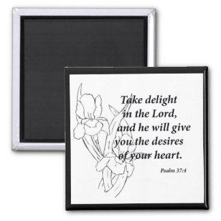 Psalm-37:4 Quadratischer Magnet