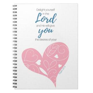 Psalm-37:4 Schrifts-Zeitschrift Notizblock
