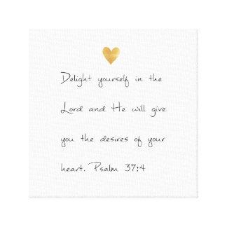 Psalm 37 leinwanddruck