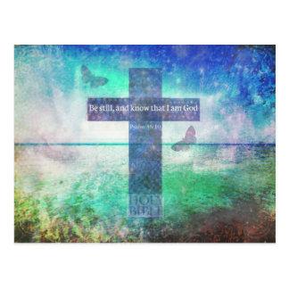 Psalm-46:10, das Bibel-Vers anregt Postkarte