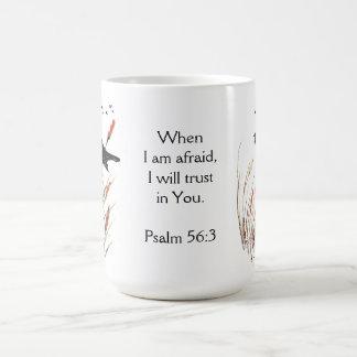 Psalm-56:3 Bibel-Schrifts-Vertrauen in Ihnen Kaffeetasse