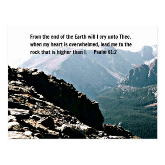 Psalm-61:2 vom Ende der Erde… Postkarte