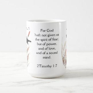 Psalm-65:5 Bibel-Schrifts-Gott hat Amsel gegeben Kaffeetasse