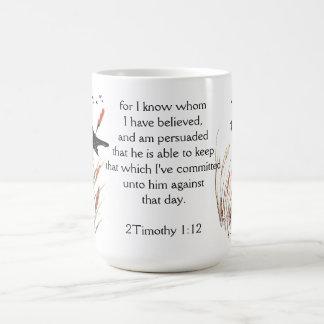 Psalm-65:5 Bibel-Schrifts-Gott kenne ich Amsel Kaffeetasse