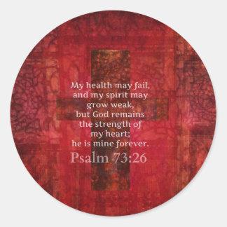 Psalm-73:26 inspirierend BIBEL-Vers Runder Aufkleber